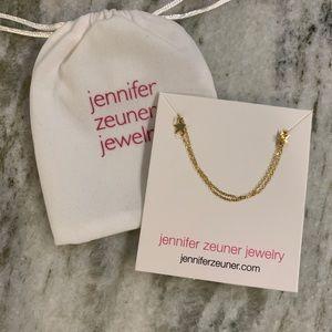 Jennifer Zeuner Gold Star Necklace Chocker NEW